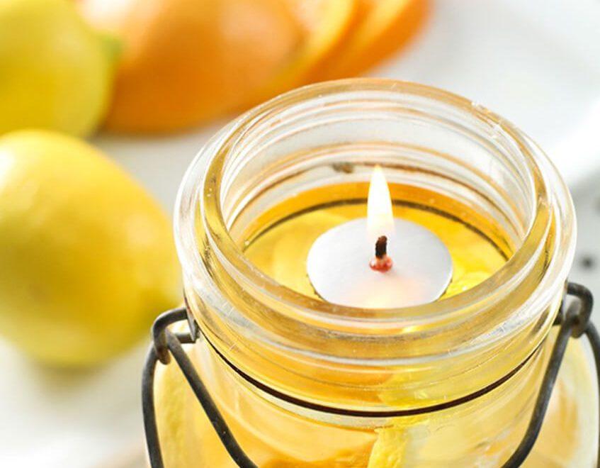 5 minútová sviečka v zaváraninovej fľaške